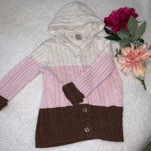 Gymboree Hooded Cableknit Cardigan - 3T